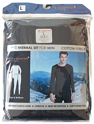 therma-tek-formerly-comfort-fit-mens-winter-thermal-cotton-fleece-top-bottom-2-pcs-set-navy-blue