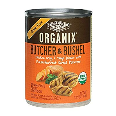 Castor & Pollux Organix Canned Adult Dog Food; Chicken Wing & Thigh - (Case of 12 - 12.7 oz)