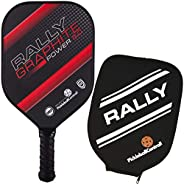 Pickleball Paddle - Rally Graphite Power 5.0   Honeycomb Core, Graphite/Polymer Hybrid Composite Face   Power,