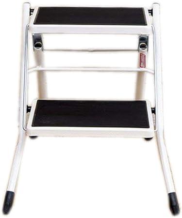 894176 XYQ - Escalera Antideslizante de 2 Pasos Escalera Plegable Escalera de Cocina Escaleras de Seguridad para el hogar DIY Escalera de Mano Ancha Plegable de Acero para Servicio portátil 2: Amazon.es: Hogar