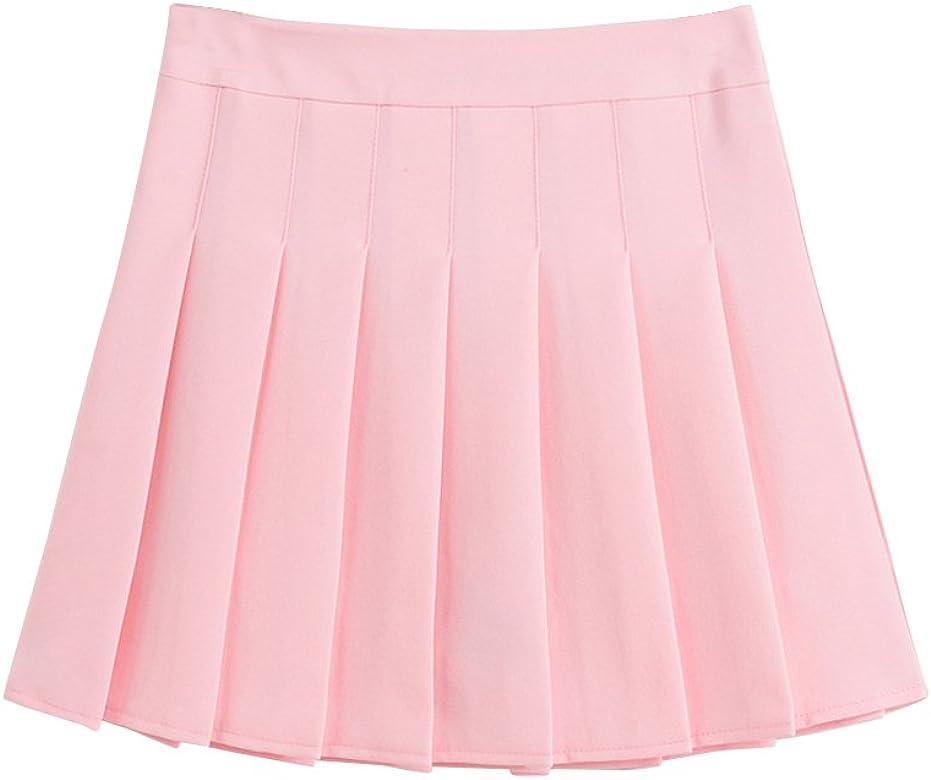 Mujeres Falda Tenis Plisada Cintura Alta Uniforme Escolar Mini ...