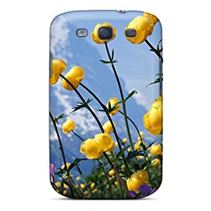 Flexible Tpu Back Case Cover For Galaxy S3 - Alpine Flowers