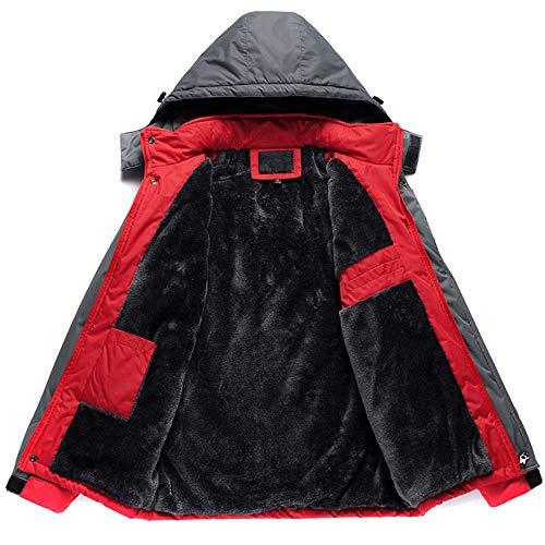 Sportif Manteau pluie Coupe Capuche Garder Hiver Veste Imperméable lin vent Grande Rouge Vestes Étanche Taille Au Anorak Chaud Coupe Homme À Day qxnfwSHq