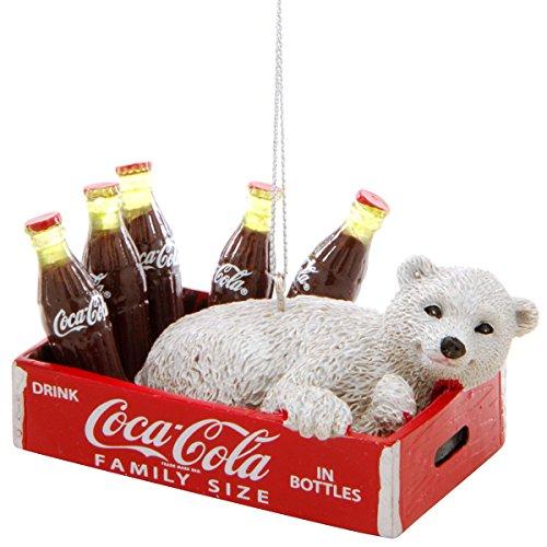 Kurt Adler Coca-Cola Polar Bear in Crate Ornament (Decor Cola Coca Christmas)