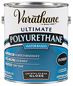 RUST-OLEUM 200031 Varathane Gallon Gloss Interior Waterborne Diamond Polyurethane Scratch and Stain Protection