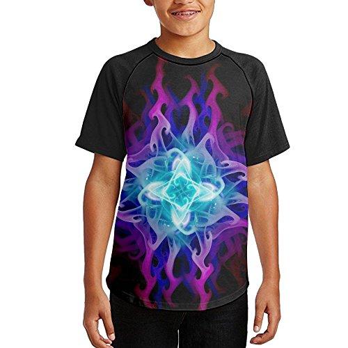 Michigan Womens Boy Brief (Anganquzh Boy Fashion Bright Hyun Magic Short-sleeved T-shirt)