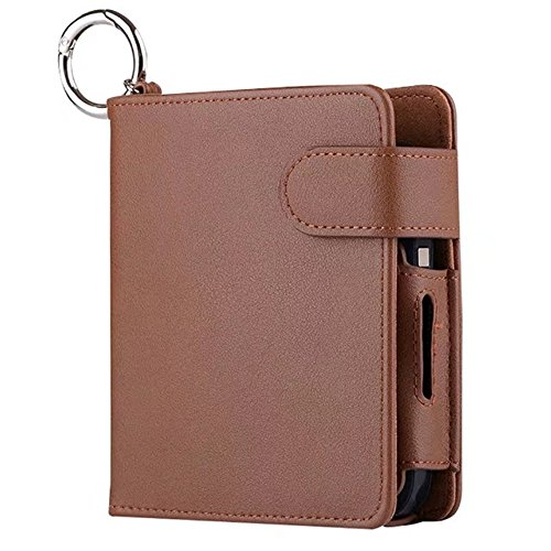 Lucky Shop1234 Wallet Case for Electronic Cigarette PU Leather Carrying Case Box Pouch Bag with Card Holder Tobacco Cigarette Protective Holder Cigar Cover