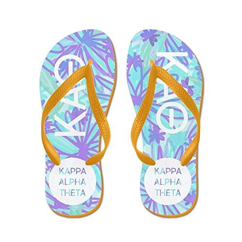 CafePress Kappa Alpha Theta - Flip Flops, Funny Thong Sandals, Beach Sandals Orange