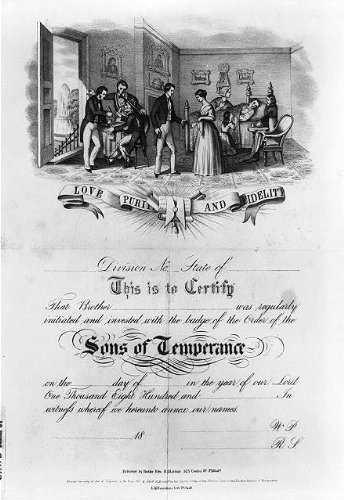 Photo: Sons of Temperance,c1857,Love,Purity,Fidelity