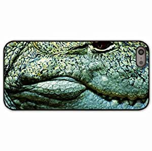 iPhone 5 5S Black Hardshell Case teeth crocodile eye Desin Images Protector Back Cover by runtopwell
