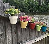 terracotta flower pots - Niche-Finds 5 Pieces Flower Pot Clips Hangers Latch - Long Lasting Galvanized Steel