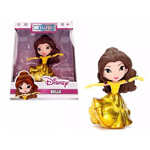 (Metals Disney Princess Belle Gold Gown Collectible Toy Figure)