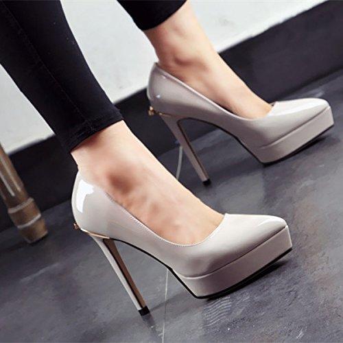 moda La donna sottolineato l'estate calzatura di e partito scarpe semplice tacchi primavera FLYRCX d alti singola dn1wYqIx