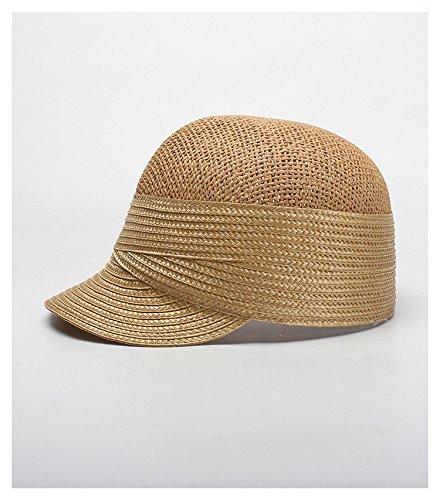 c7b653dc Amazon.com: ALWLj Women Summer Sun Hat Caps Raffia Straw Hat Casual  Snapback Cap: Sports & Outdoors