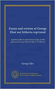 essays by george eliot