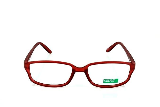 Amazon.com: Benetton Womens BE093 Red - Eyeglasses lenses 52 ...