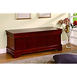 Coaster Louis Philippe Traditional Warm Brown Cedar Chest
