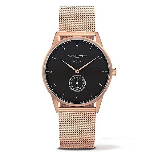 [Paul Hewitt] Paul Hewitt relojes reloj rosa oro malla cinturón 38 mm mujeres hombres [paralelo mercancías de importación]: Amazon.es: Relojes