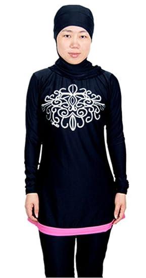 Sports et Loisirs Vêtements mer et natation TianMai Nouvelles Maillots de Bain Musulman Femmes Filles Musulmanes Modeste Beachwear Couverture Complète Islamique Burqini Burkini Hijab Muslim Swimwear