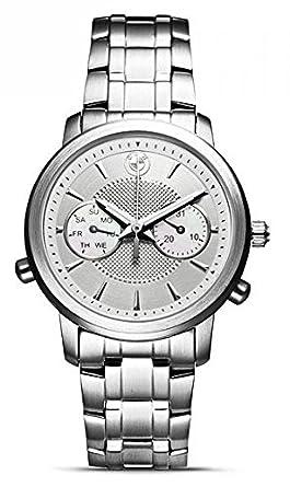 Original BMW Damen Armbanduhr Uhr Edelstahl mit weißem Ziffernblatt
