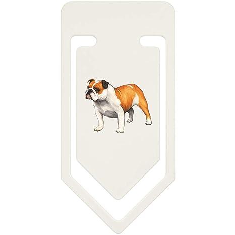 Azeeda 91mm Bulldog Inglés Clip de Papel Plástico Grande (CC00036141)