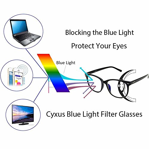 Cyxus Blue Light Filter Computer Glasses Transparent Lens