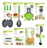 Jokari Healthy Steps Portion Control Diet / Weight Loss 10pc Utensil Kitchen Tool Set