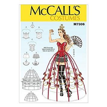 McCalls Schnittmuster 7306für Damen, Korsett &amp ...