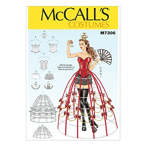 Corset Crinoline (McCalls Ladies Sewing Pattern 7306 Corset & Crinoline Cage Costume)