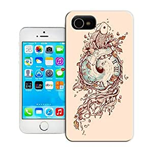 Unique Phone Case Feature artwork eye koi plants illustration design sketch drawing art Hard Cover for iPhone 4/4s cases-buythecase