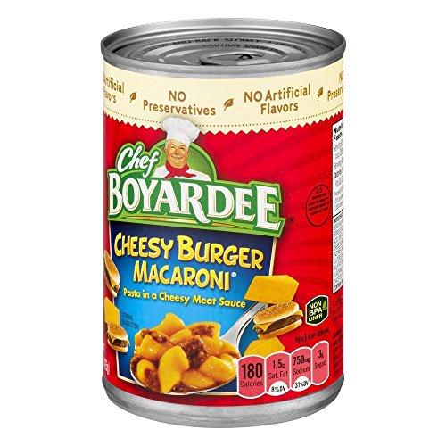 - Chef Boyardee, Cheeseburger Macaroni, 15oz Can (Pack of 6)