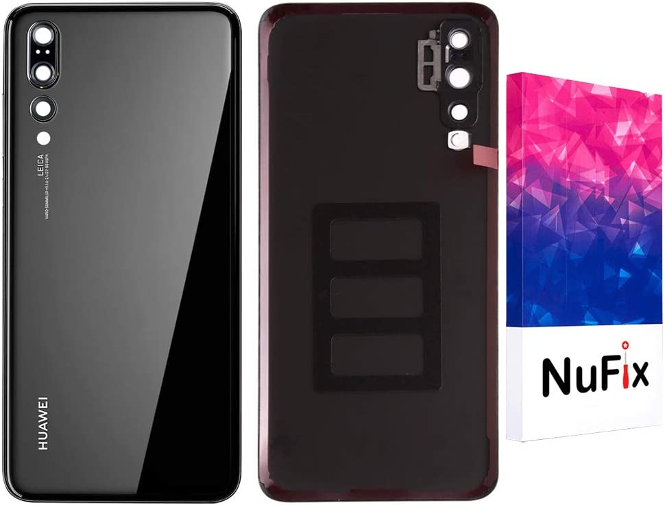 NuFix Replacement for Huawei P20 Pro Back door cover Replacement Back battery door panel housing Original color and Shape with Camera lens and ...