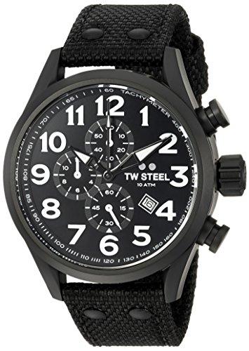 TW-Steel-Mens-Volante-Quartz-Stainless-and-Nylon-Dress-Watch-ColorBlack-Model-VS43