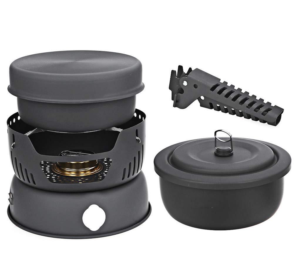 キャンプ用調理器具ポップアップ用アルコールストーブ付ポータブル調理器   B07GTNTNW9