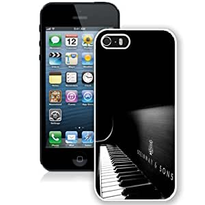 Fashionable Custom Designed iPhone 5S Phone Case With Steinway And Sons Black Piano_White Phone Case