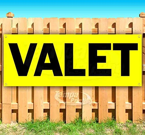 Valet 13 oz Heavy Duty Vinyl Banner Sign with Metal Grommets Flag, Advertising Many Sizes Available New Store