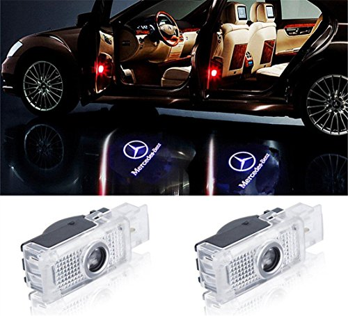 Crystal for Mercedes-Benz Cla Cls Car LED Projector Door Ghost Shadow Welcome Logo Light
