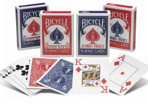24 Decks of Bicycle Rider Back Poker Playing Cards - Choose from Regular or Jumbo index - Wholesale Priced - Wholesale Priced by Bicycle