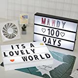 LED Letter Box Sign Lightbox Message Board Home Night Lamp Table Decoration Lighting Porch Light up Sign Box Lightbox Message Board Cinema LED Letter Symbol Home Party Wedding,White