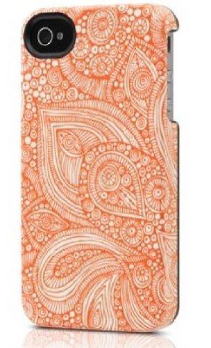 Uncommon - C0020-BB - Apple iPhone 4/4S Capsule Hülle in Orange Doodles