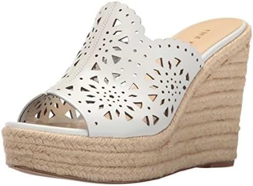 Nine West Women's Derek Leather Wedge Sandal