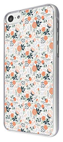 638 - Floral Shabby Chic Mini Roses Design iphone 5C Coque Fashion Trend Case Coque Protection Cover plastique et métal