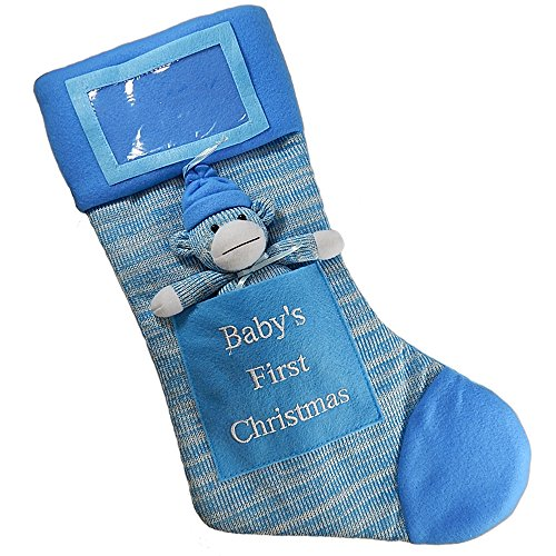 Babys First Christmas Stocking Baby Boy Stocking With Removable