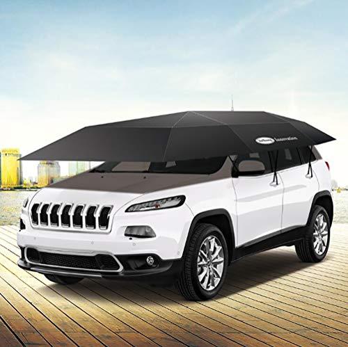 XNNSH Semi-Automatic Car Tent,Movable Carport Folded Portable Automobile Protection Car Umbrella Sunproof Car Canopy Cover