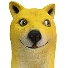 Mycos Funny Doge Mask Halloween Unisex Adult Dog Animal Latex Head Mask