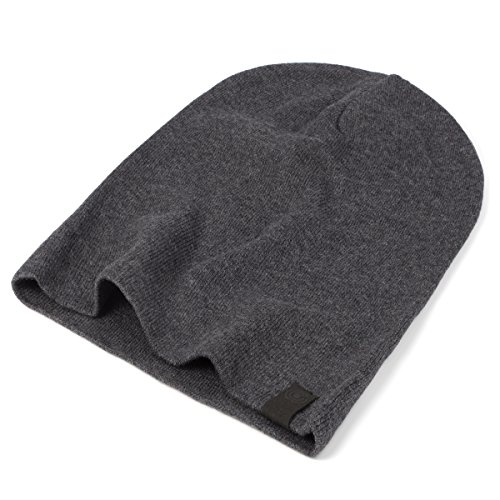 Review Warm Slouchy Beanie Hat – Deliciously Soft Daily Beanie in Fine Knit Charcoal Grey One Size