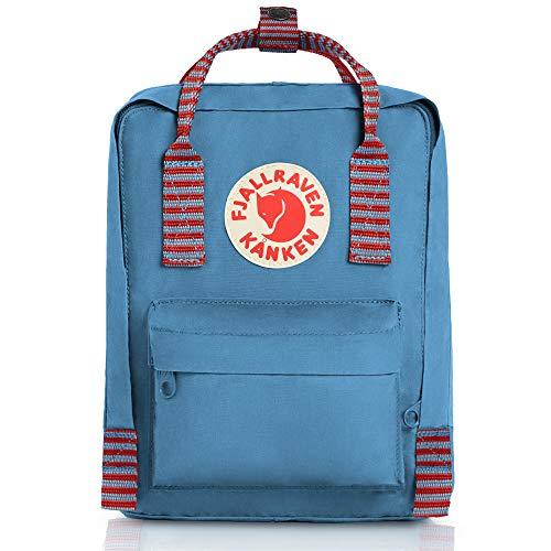 (Fjallraven - Kanken Mini Classic Backpack for Everyday, Air Blue/Striped)