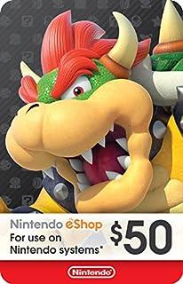 $50 Nintendo eShop Gift Card [Digital Code] (B01M1VX5UJ) | Amazon Products