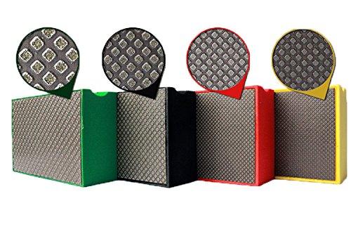 20 pieces 100x55mm Electroplated Diamond Hand Pads Rectangular Polishing Pad