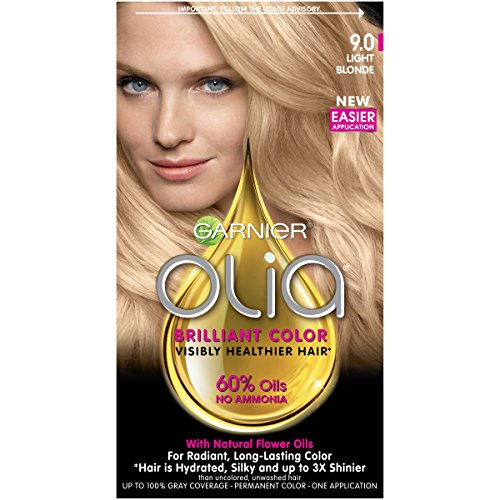 Garnier Olia Oil Powered Permanent Hair Color, 9.0 Light Blonde